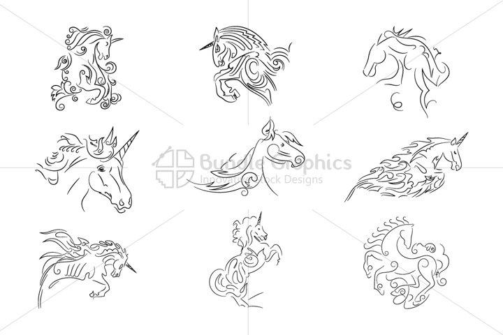 Unicorn Vector Set