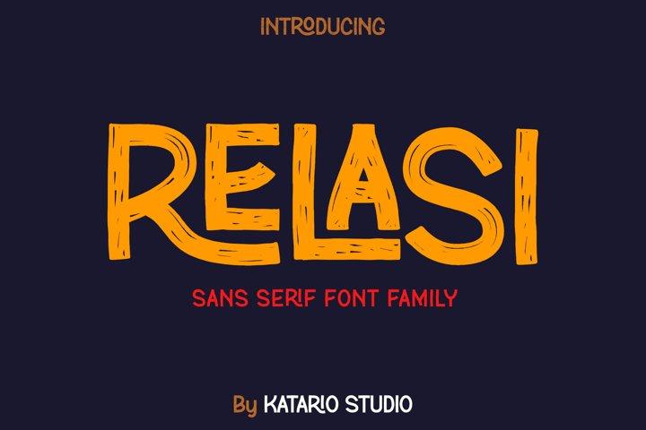Relasi | Brush San Serif Font Family