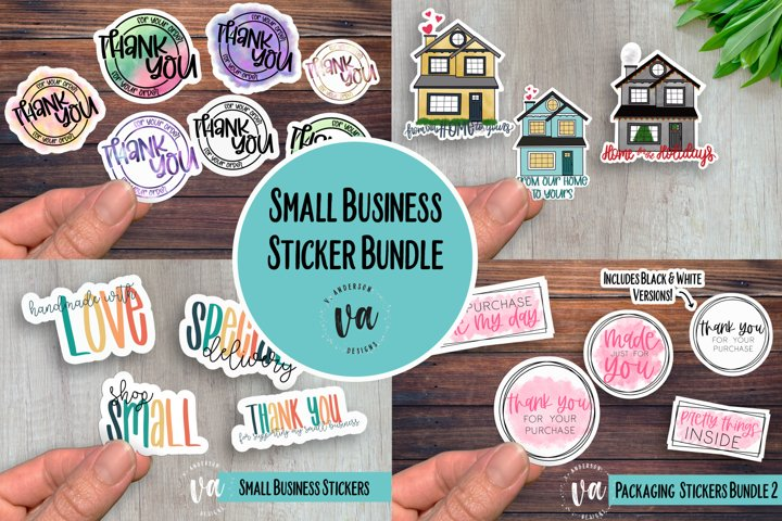 Small Business Packaging Stickers Bundle PNGs