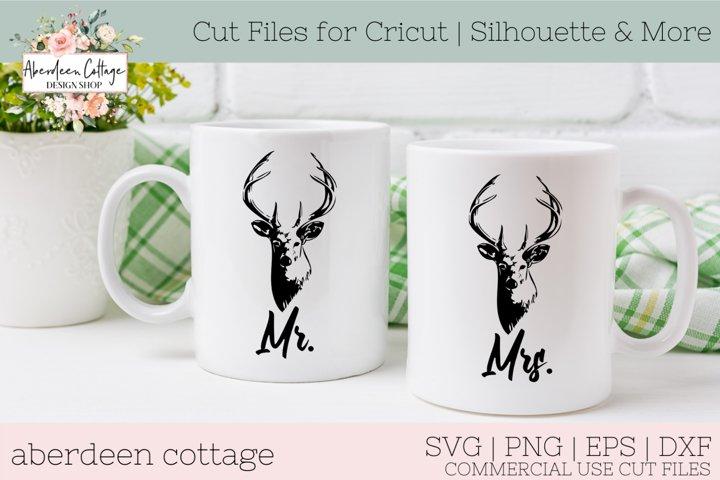 Mr. & Mrs. Buck Hunters SVG - Hunting Coffee Mug Design