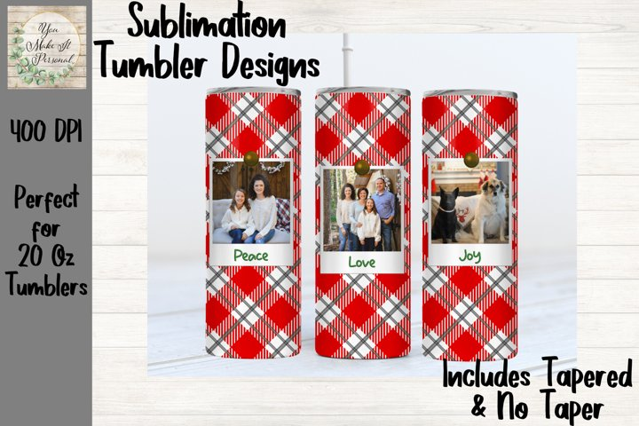 Photo Tumbler Design, Christmas Design for Sublimation