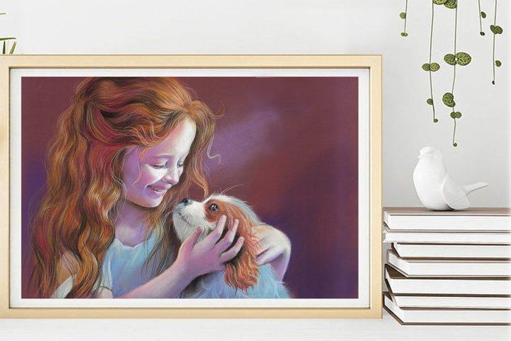 Artistic digital printing, Nice kids poster