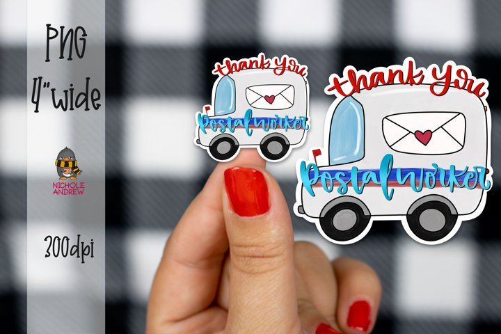 Thank You Postal Worker - Digital Sticker