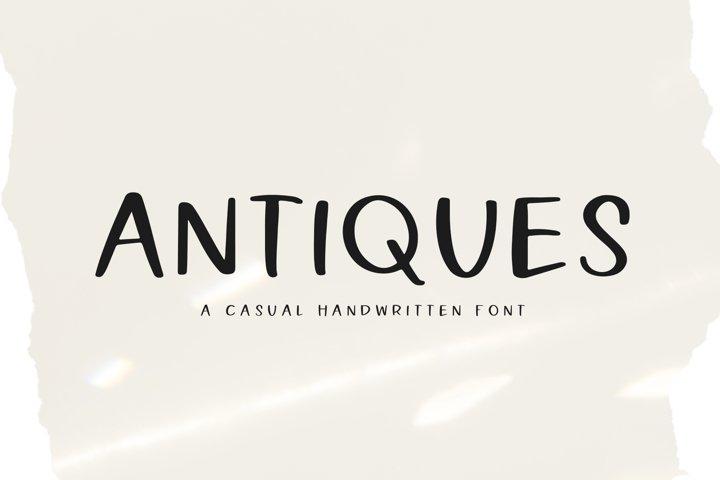 Antiques - A Handwritten Font