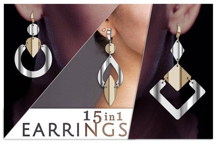 15 Dangle earrings SVG files for Cricut Faux leather