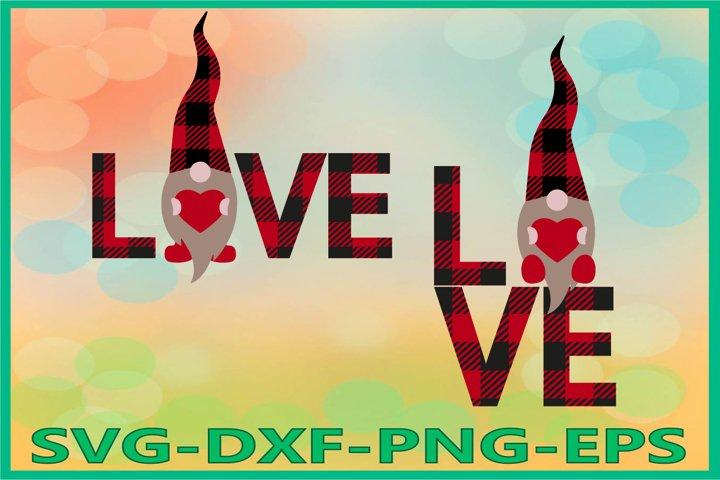 Gnome Valentines Day Svg, Love svg