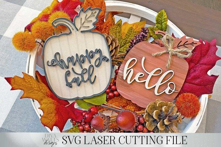 Shiplap Pumpkins | Vertical & Horizontal | Laser Cut File