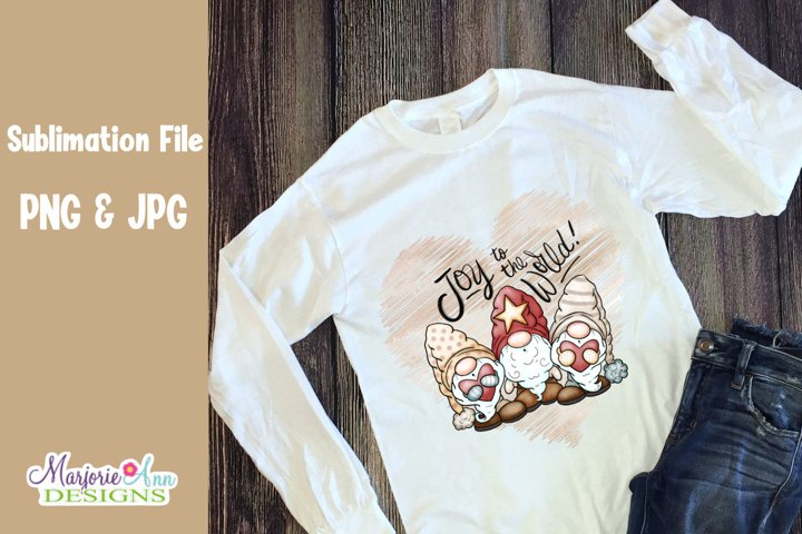 Joy To The World Gnomes 2 PNG Sublimation Designs