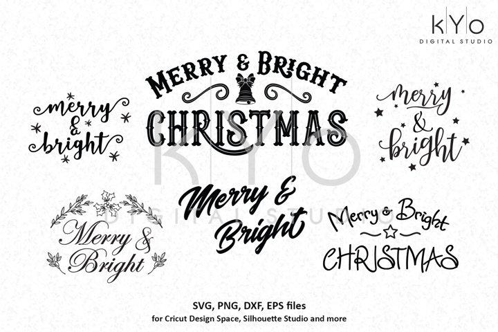 Merry And Bright Christmas Svg Cutting Files Bundle 156809 Cut Files Design Bundles