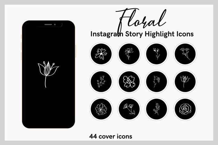 FLORAL Instagram Story Highlight Icons