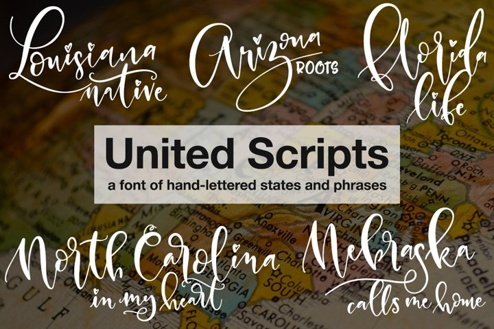 United Scripts: a font of states! - Free Font of The Week Font