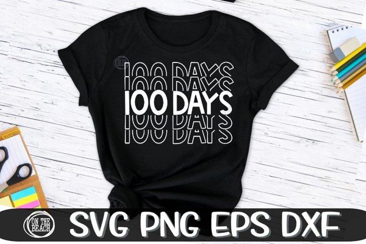 100 DAYS - Mirrored - School - Mirror - SVG PNG SVG EPS