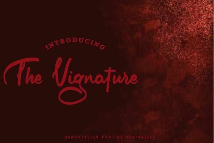 The Vignature Handstylish Font
