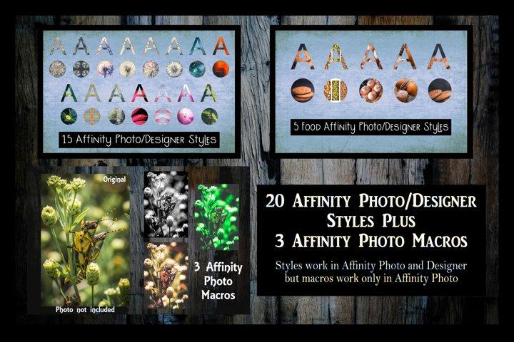 20 Affinity Photo/Designer styles and 3 Macros