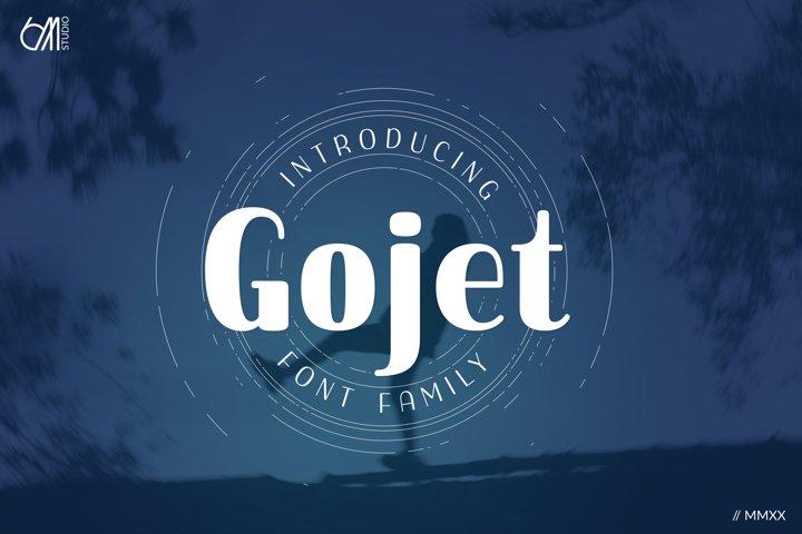 Gojet Font Family