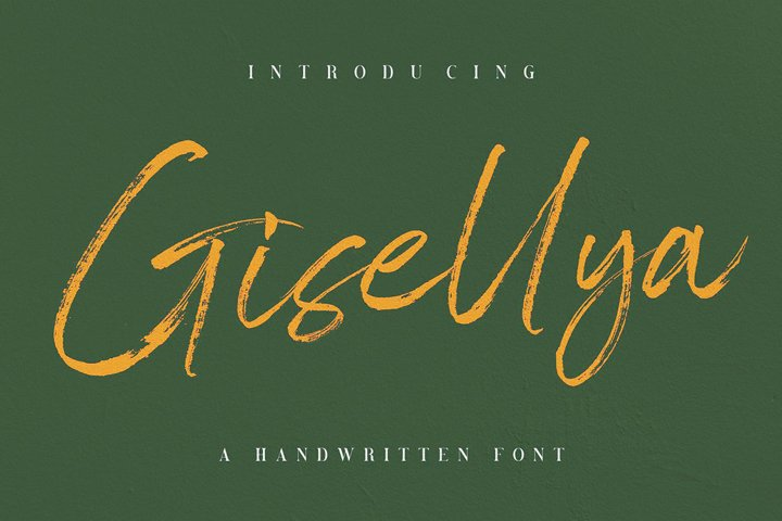 Gisellya Handwritten Font