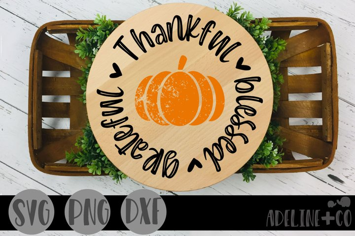 Thankful grateful blessed SVG, PNG, DXF