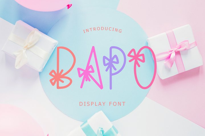Bapo Party Display Font