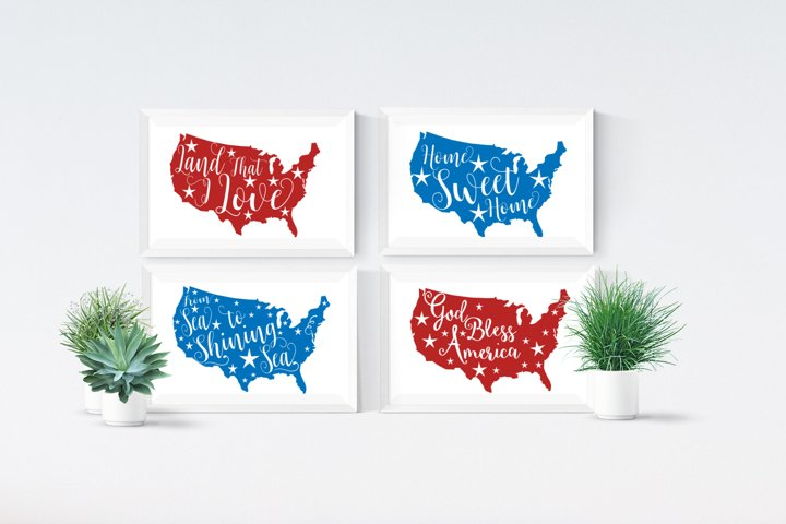 Land That I Love, SVG, EPS, DXF, PNG, USA SVG