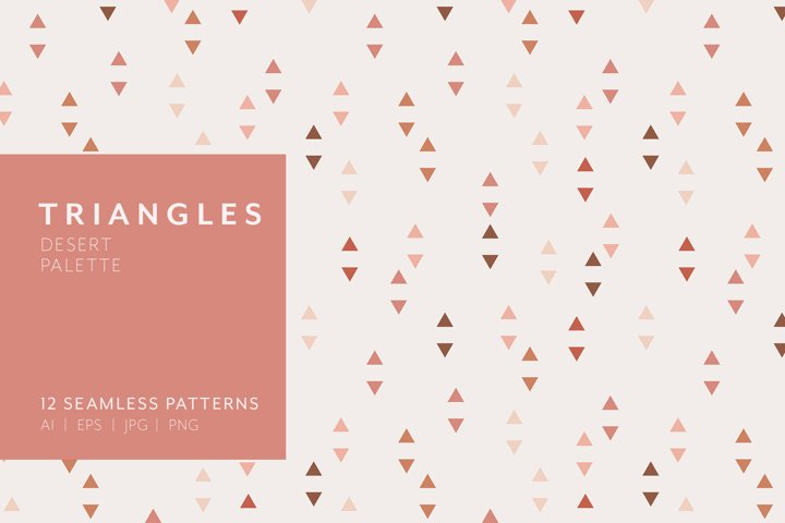 Triangle Patterns - Desert Palette