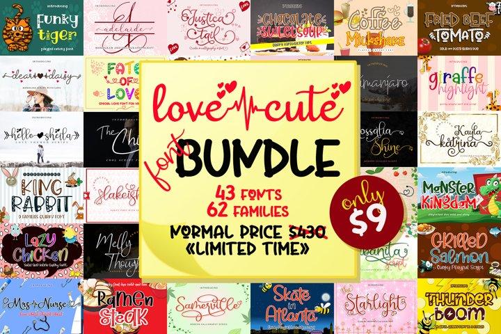 Love Cute Font Bundle