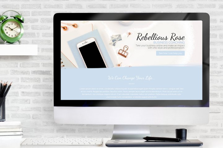 Rebellious Rose Single Page Elementor Template