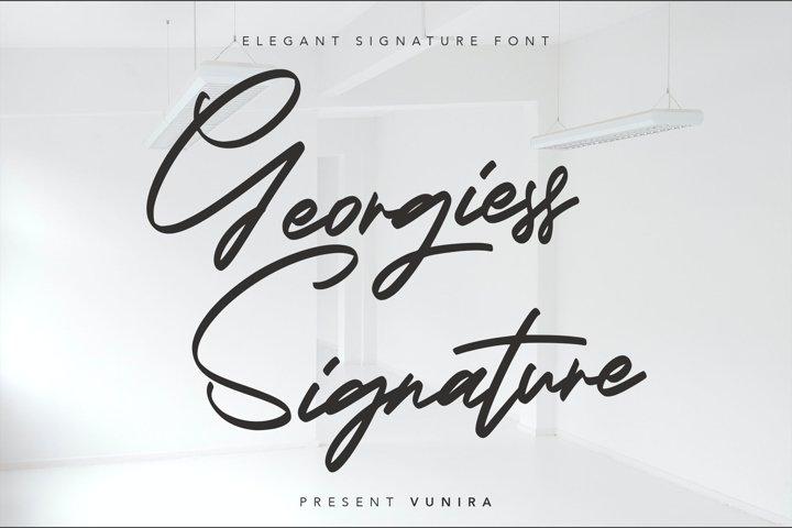 Georgiess Signature | Elegant Signature Font