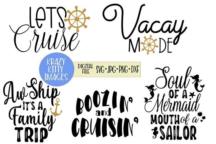 cruise svg bundle, vacation svg bundle