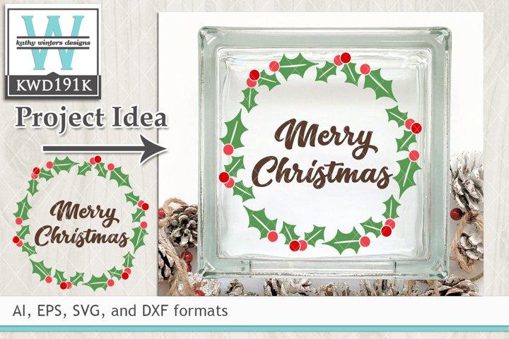 Christmas SVG - Holly Wreath