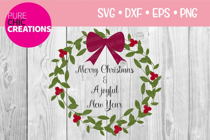 Merry Christmas & A Joyful New Year|SVG DXF PNG EPS
