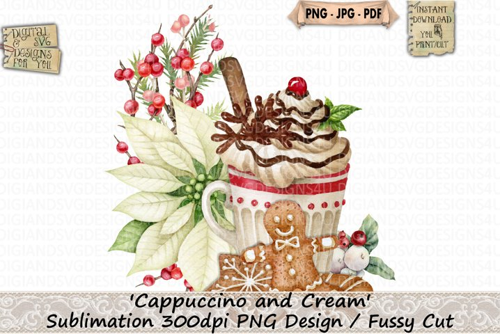 Cappuccino | Cream | Gingerbread | Christmas | Sublimation