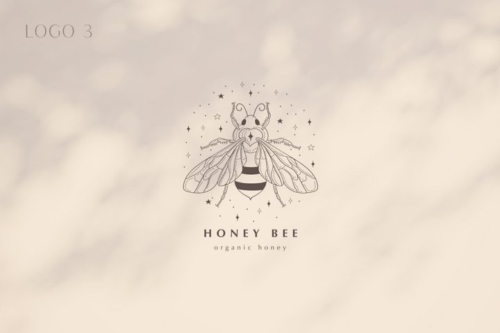 Premade Honey Bee Brand Logo for Blog or Business.