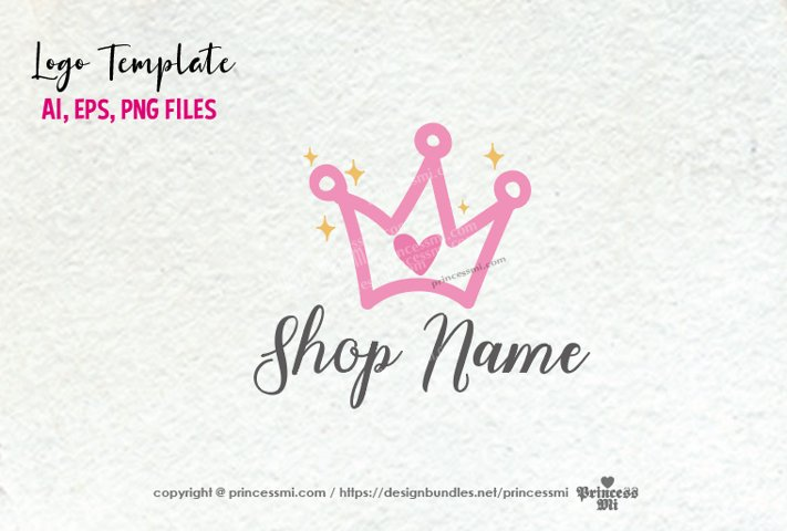 business logo template, crown