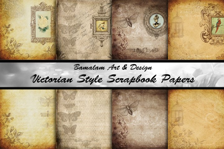 Victorian Style Scrapbook Papers