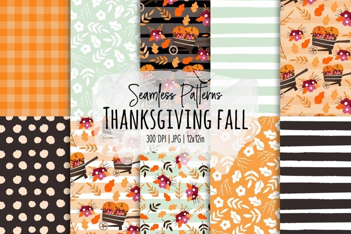 Thanksgiving/Fall Seamless Patterns