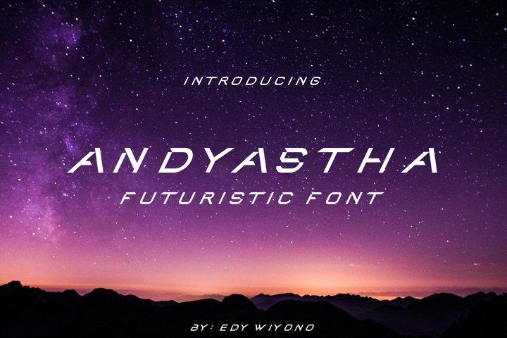 Andyastha - Futuristic Font
