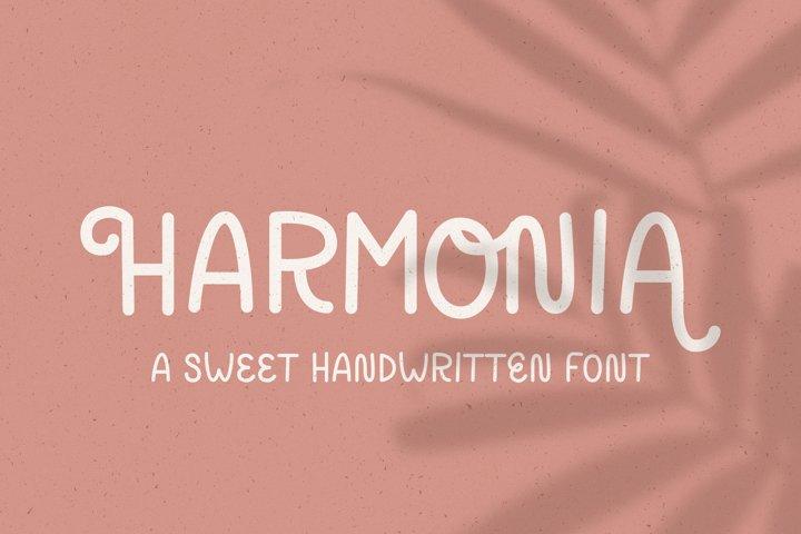 Harmonia // A Sweet Handwritten Font