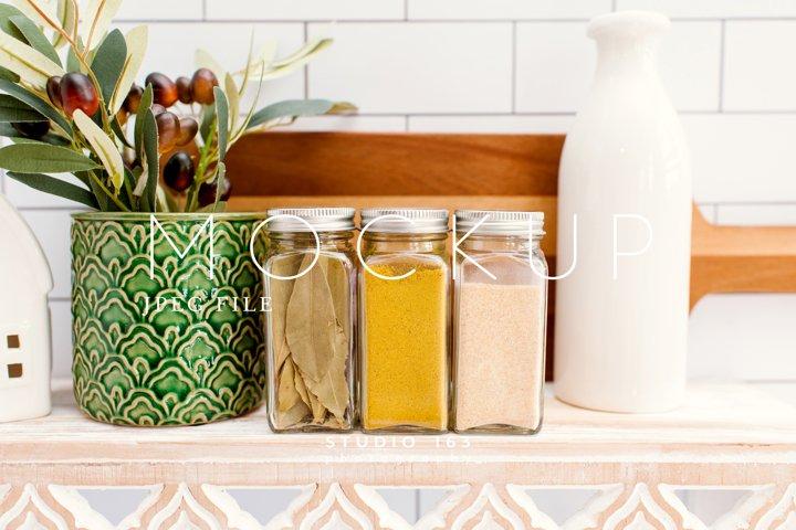Spice Jar Mockup, Glass Jar Mockup, Stock Photo, JPEG