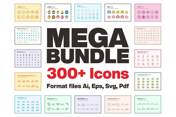 Mega Bundle 300 Icons