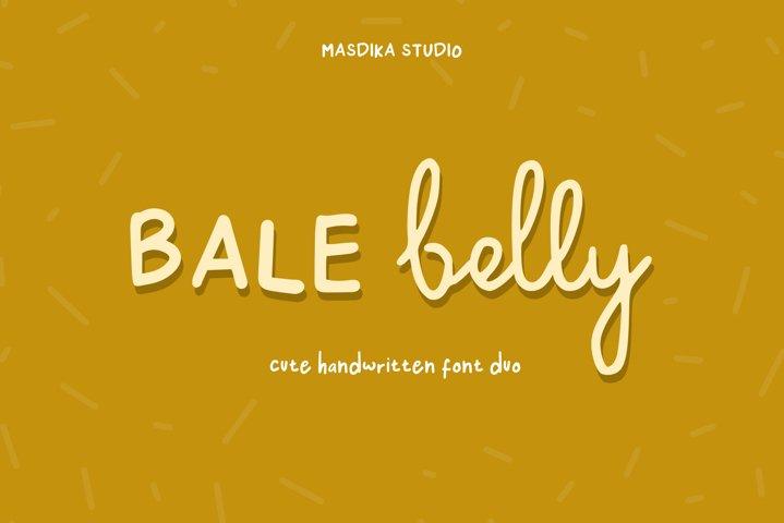 Bale Belly Cute Handwritten Font Duo