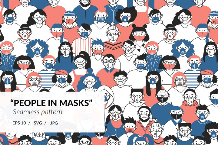 People in masks. Protection from the virus.