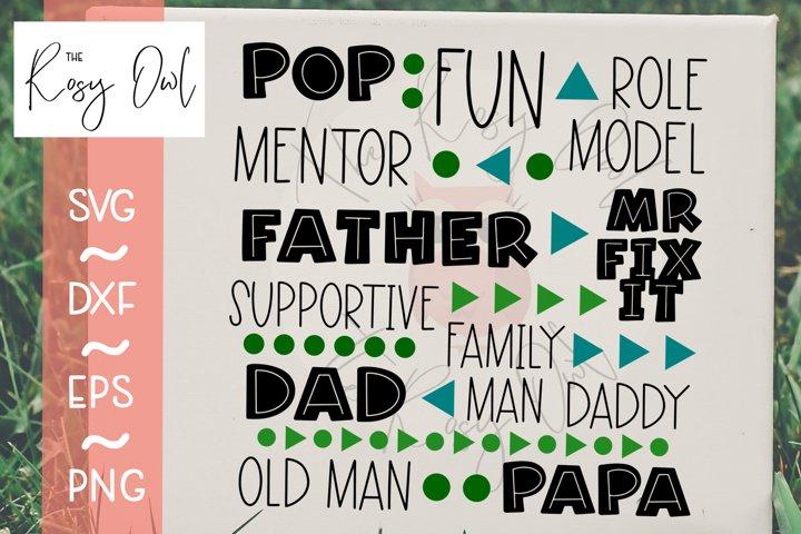 Dad Subway Art/Fathers Day Digital Cut File