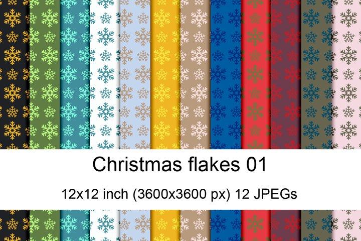 Christmas flakes 1