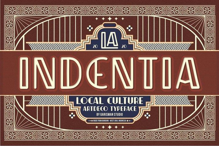 Indentia - Art Deco Typeface