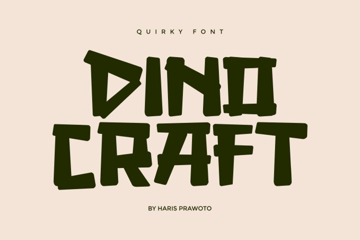 DINOCRAFT - Quirky Font