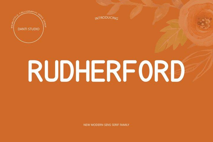RUTHERFORD SANS SERIF FAMILY