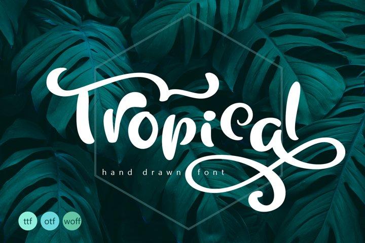Tropical Summer Font