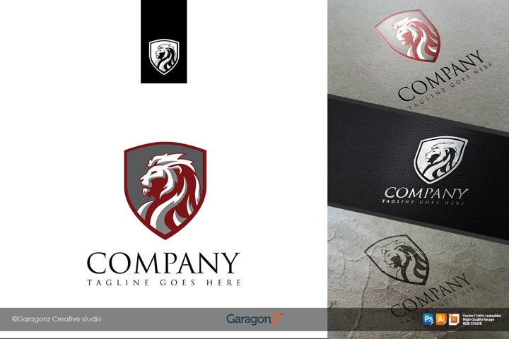 Lion Head Logo Vector 3 version