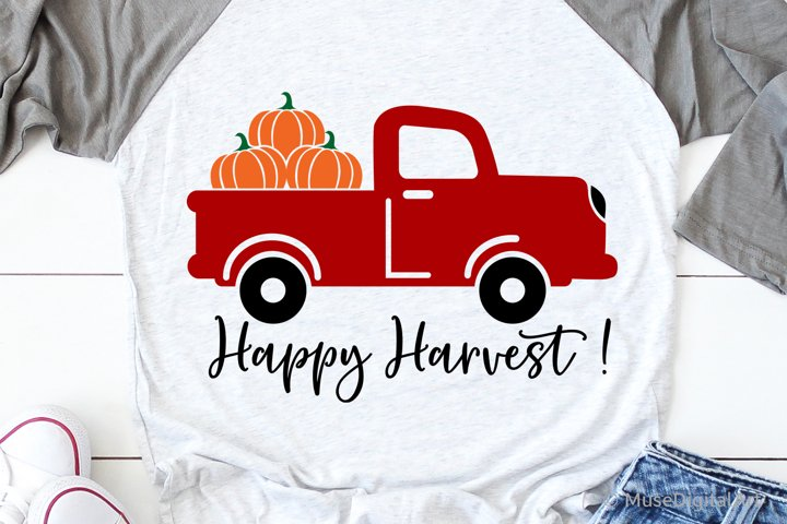 Happy Harvest Svg, Pumpkin Patch Svg, Fall Harvest Svg File