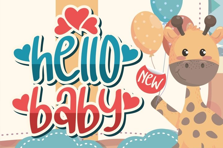 hello baby - Crafting Love Font